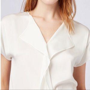 White silk Hugo Boss top blouse